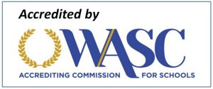 Accredited by WASC Accrediting Commission for schools, logo